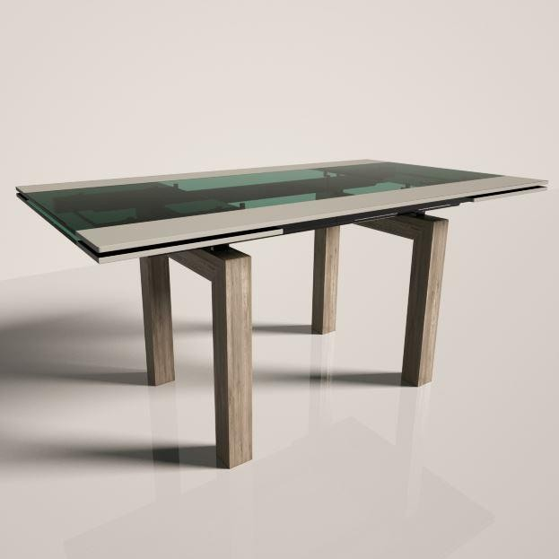 Table green glass